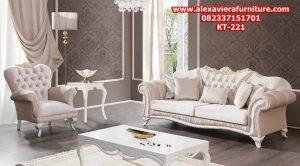 sofa tamu ukiran klasik modern duco jepara model terbaru kt-221