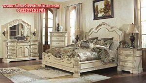 set tempat tidur broyhil klasik modern duco mewah jepara model terbaru skt-123