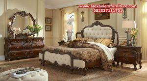 set tempat tidur klasik jati jepara modern mewah model terbaru skt-126