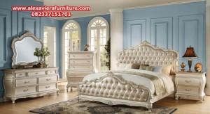 set tempat tidur klasik mewah duco model terbaru modern jepara skt-125