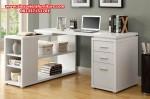 meja kantor model minimalis duco putih modern terbaru mkk-04