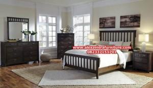 model set tempat tidur minimalis rustik jati jepara model terbaru skt-128