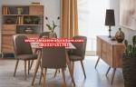 set kursi makan model terbaru minimalis klasik capella jati jepara km-274