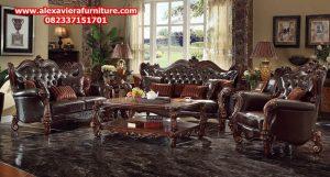 set kursi sofa tamu klasik mewah ukiran jepara model terbaru kt-266