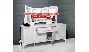 set meja konsul duco putih patek minimalis model terbaru mr-104