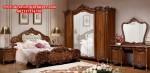 set tempat tidur klasik mewah jati rafles ukiran jepara model terbaru skt-131