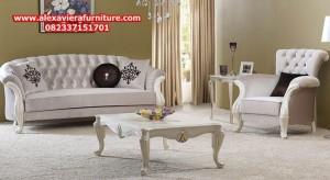 ukuran set sofa tamu modern minimalis duco putih model terbaru kt-258