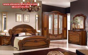 1 set tempat tidur jati klasik model terbaru luzia ukiran jepara skt-142