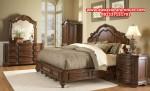 1 set tempat tidur klasik antik kayu jati jepara model terbaru elegant skt-140