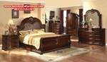 1 set tempat tidur klasik jati model terbaru skt-145