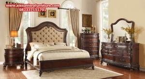 1 set tempat tidur model terbaru klasik jati jepara elegant skt-139