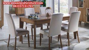 jual set kursi makan minimalis modern kayu jati jepara model terbaru km-279