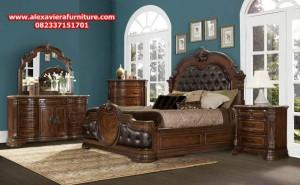 model set tempat tidur jati klasik terbaru ukiran jepara skt-141