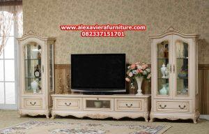set bufet tv model terbaru orfee klasik modern mewah duco ukiran jepara ah-161