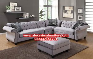 set sofa tamu sudut model terbaru modern minimalis jolanda kt-273