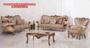 sofa tamu klasik mewah hyuren gold model terbaru kt-291