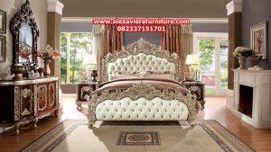 jual set tempat tidur klasik antique ukiran model terbaru skt-150