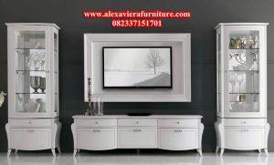 set bufet tv minimalis duco putih oreo model terbaru ah-168