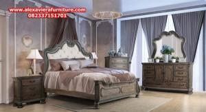 set tempat tidur klasik antik jati jepara skt-148