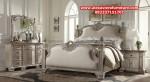 set tempat tidur klasik rustik putih model terbaru skt-148