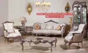 sofa tamu model klasik silver ukiran jepara terbaru kt-297