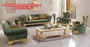 sofa tamu modern klasik mewah gold kt-300
