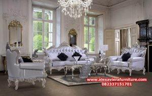 1 set kursi tamu klasik duco ukiran, gambar sofa tamu klasik kt-323