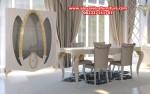 jual set kursi makan modern minimalis duco putih model terbaru km-302