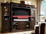 set bufet rak tv minimalis klasik kayu jati jepara bj-025