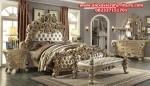 set tempat kamar tidur model klasik ukiran eropa terbaru skt-154