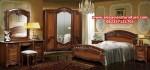 1 set tempat tidur kayu jati jepara model terbaru klasik skt-160, gambar set kamar tidur
