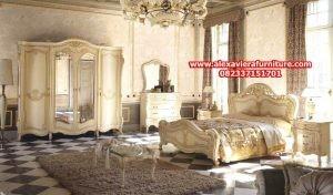 1 set tempat tidur mewah  jepara model terbaru klasik skt-161, gambar set kamar tidur