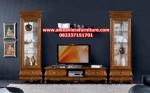 set bufet tv jati minimalis klasik jepara ah-178, rak tv minimalis klasik, gambar bufet tv klasik