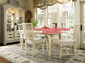 set meja makan model duco minimalis kayu terbaru, jual kursi makan minimalis km-310