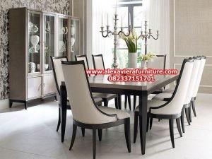 set meja makan modern model minimalis, gambar kursi makan modern km-309