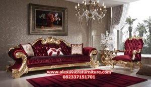 set sofa ruang tamu mewah jacson gold model terbaru kt-329
