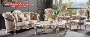 set sofa ruang tamu modern klasik martis model terbaru kt-334