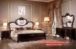 set tempat tidur mahoni klasik model terbaru skt-164