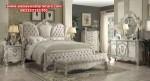 set tempat tidur mewah with king klasik model terbaru skt-165