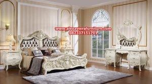 set tempat tidur model terbaru klasik luxury skt-163