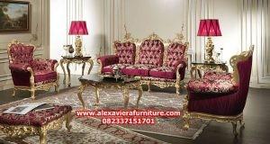 set sofa ruang tamu klasik terbaru mewah baroque kt-346