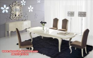 set meja & kursi makan modern minimalis km-352