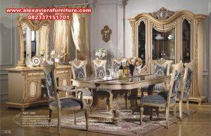 set meja makan 8 kursi klasik terbaru, set meja makan, ukuran meja makan