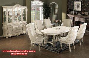 set meja makan klasik ukir bangau terbaru, set meja makan, set meja makan klasik, set meja makan mewah, set meja makan modern, set meja makan model terbaru