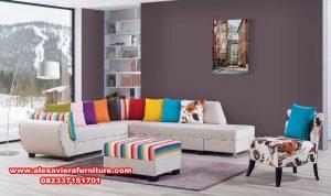 sofa kursi tamu sudut minimalis colourfull, set kursi tamu sudut, set kursi tamu minimalis, set kursi tamu sudut minimalis
