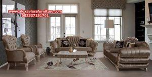 sofa tamu mewah klasik, kursi ruang tamu klasik, set sofa tamu kt-351
