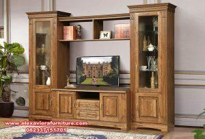 harga bufet tv jati klasik minimalis antik ah-200