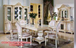 kursi makan set modern klasik putih, set kursi makan klasik, set kursi makan, set meja makan, set kursi makan mewah, set kursi makan ukiran, set kursi makan model terbaru, set kursi makan duco