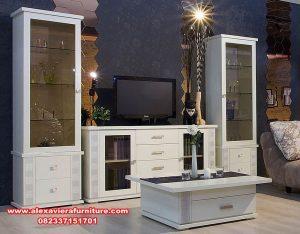 set bufet tv model minimalis mewah putih ah-192