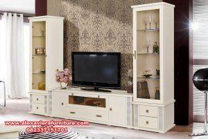 set bufet tv modern minimalis putih mewah ah-190